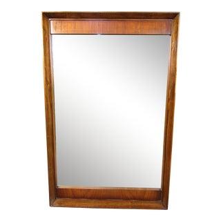 Mid-Century Modern Walnut Hanging Mirror For Sale