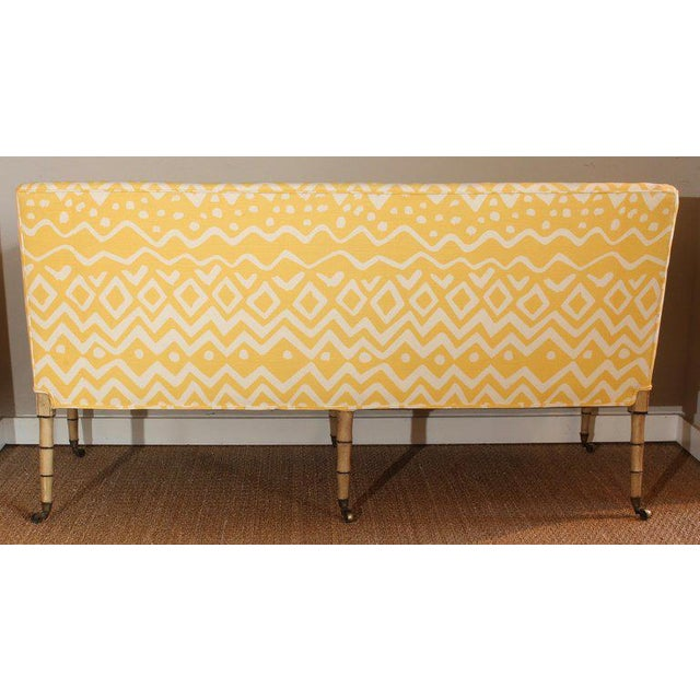 19th Century English Upholstered Sofa or Bench For Sale - Image 4 of 9