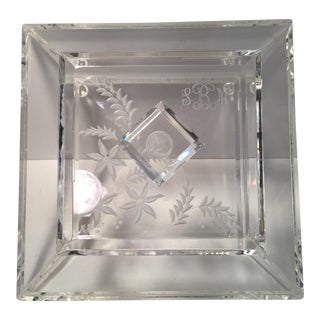 Vintage Etched Lucite Box For Sale