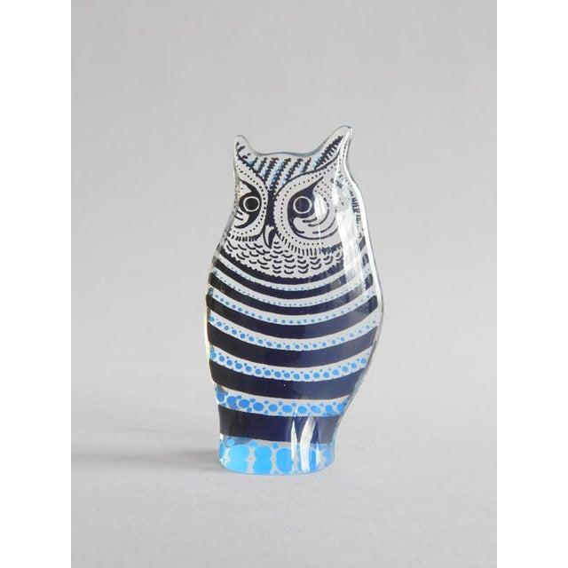 Abraham Palatnik Vintage Abraham Palatnik Op Art Lucite Owl For Sale - Image 4 of 7