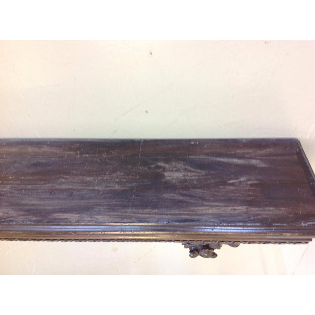 Custom Made Walnut Mantel Shelf - Image 3 of 6