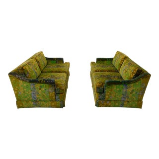 Mid Century Modern Loveseats Upholstered in Jack Lenor Larsen Fabric -A Pair For Sale
