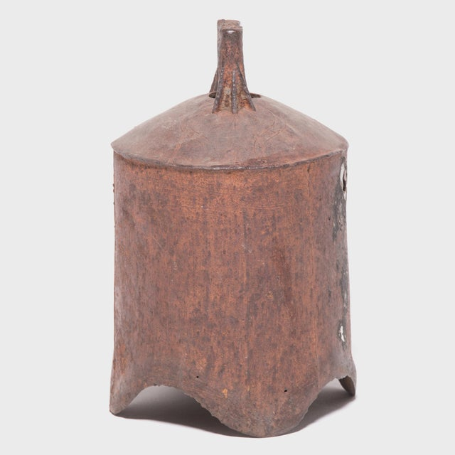 This rustic, 19th-century iron bell once pealed in celebration or gave notice of important events in a town in northern...
