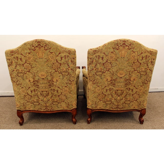 Ethan Allen French Country Lounge Chairs - A Pair - Image 8 of 11