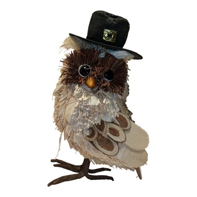 Awesome Vintage Pilgrim Thanksgiving Fall Corn Husk Wooden Owl Cjindustries Chair Design For Home Cjindustriesco