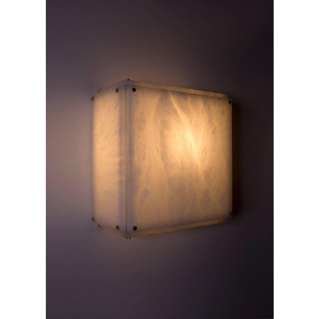 Modern Contemporary 001a Flush Mount in Alabaster by Orphan Work For Sale - Image 9 of 10