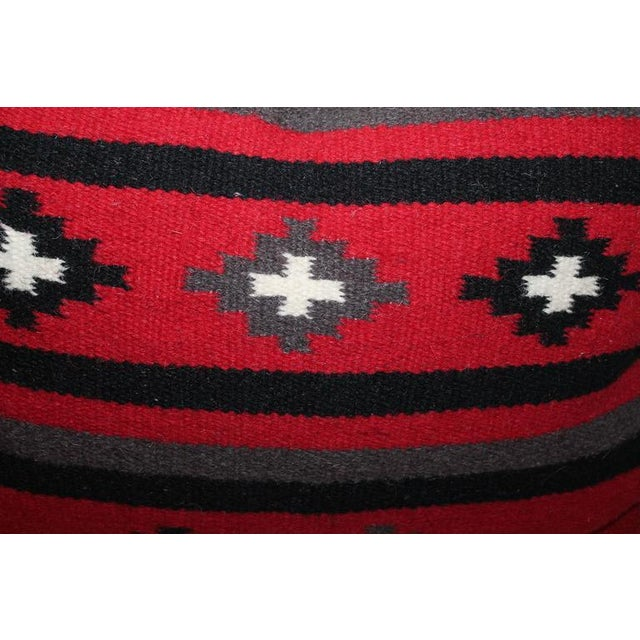 This pair of handwoven Indian wool weavings are in great condition with the original cotton fringe. The backing is in...