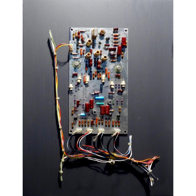 Abstract Mid Century Component Art Vintage Circuitry Wall Sculpture / Collage. Bill Reiter For Sale - Image 3 of 13