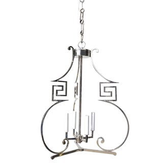 James Mont Mid-Century Style Chrome Chandelier For Sale