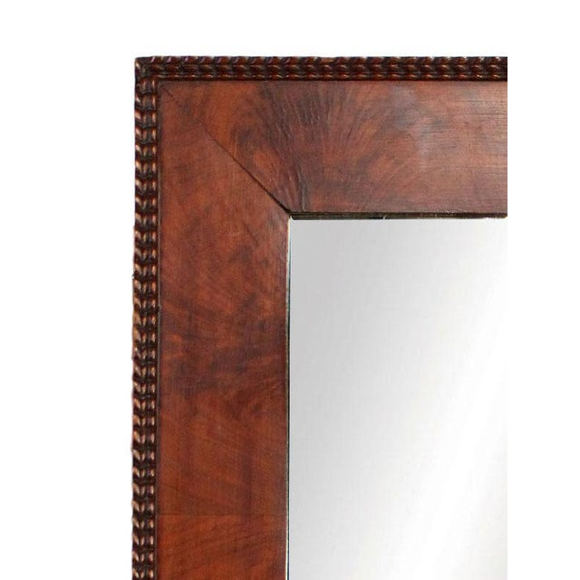 Milo Baughman 1970's Red Burl Wood Rectangular Mirror With Beaded Trim in the Manner of Milo Baughman for Thayer Coggin For Sale - Image 4 of 5