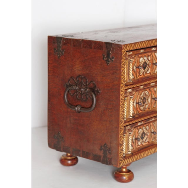 Spanish Bargueno / Portable Desk Cabinet For Sale In Dallas - Image 6 of 13