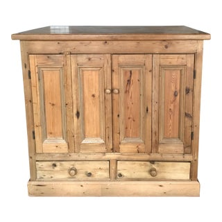 French Country Reclaimed Pine Wood Cabinet For Sale