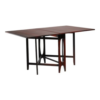 Scandinavian Rosewood Drop-Leaf Gateleg Table For Sale