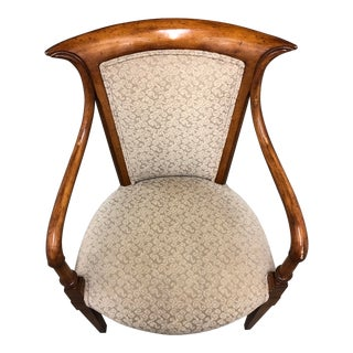 1960s Vintage Traditional Wood Arm Chair For Sale