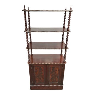 Antique Mid 19th Century Victorian Mahogany Etagere with Cupboard Base For Sale