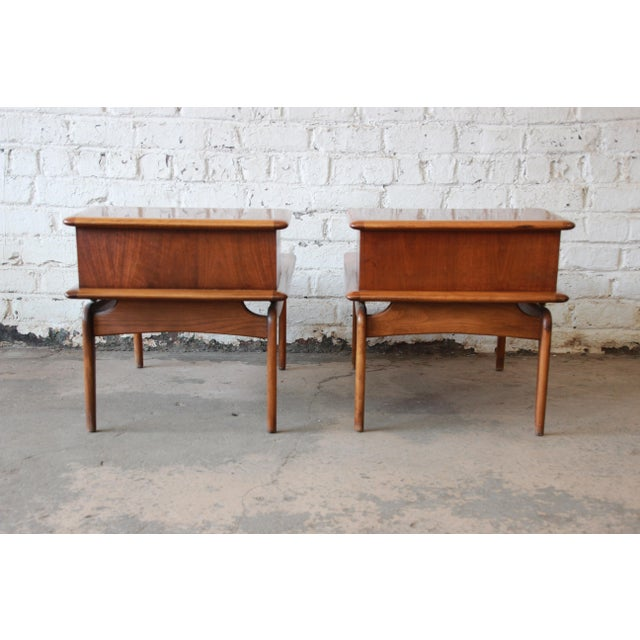 Mid-Century Lane Step End Tables - a Pair - Image 7 of 10