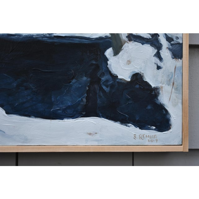 """Contemporary Stephen Remcik """"Pool at Destruction Brook"""" Small Contemporary Painting For Sale - Image 3 of 8"""