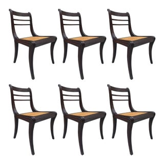 Regency Style Mahogany Dining Chairs For Sale
