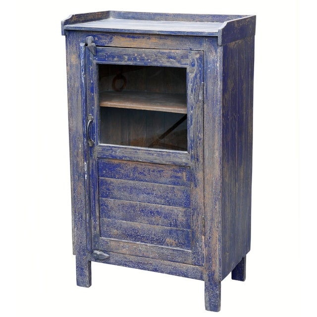 Distressed Navy Blue-Painted Cabinet - Image 2 of 2
