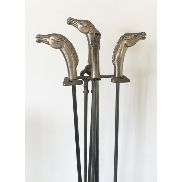 Brass Equestrian Fireplace Tools - 5 - Image 4 of 5