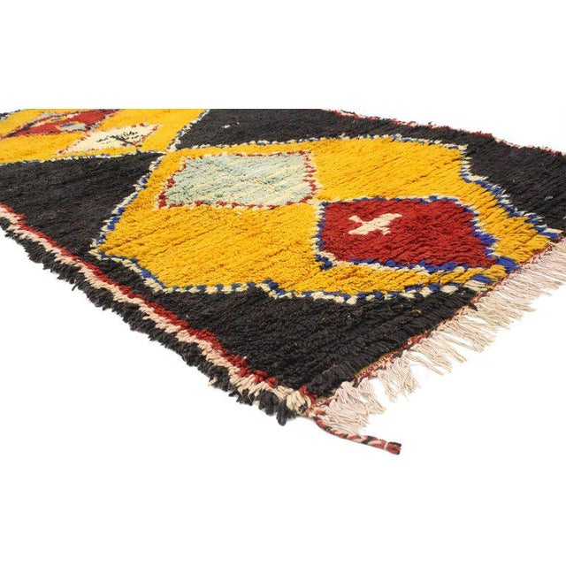 African Late 20th Century Vintage Berber Moroccan Rug - 4′1″ × 7′10″ For Sale - Image 3 of 5
