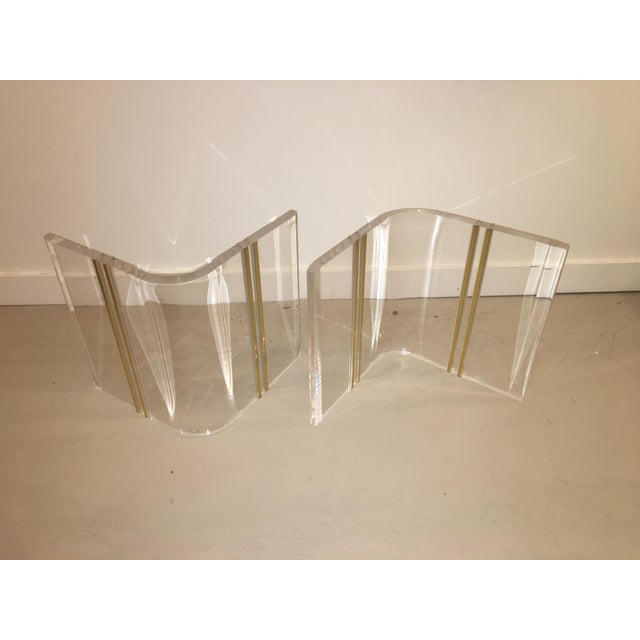 Lucite cocktail table - Image 6 of 7