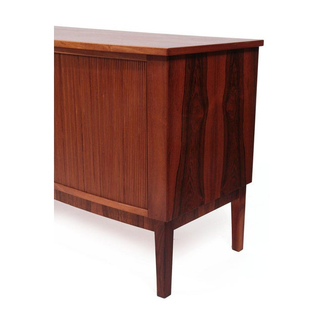 1960s Rosewood Brass and Tambour Door Credenza For Sale - Image 5 of 6