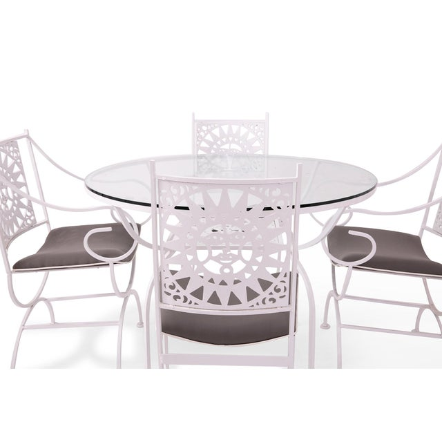 """Newly refinished """"Mayan"""" patio set by Arthur Umanoff for the American furniture company Shaver Howard. The chair backs are..."""