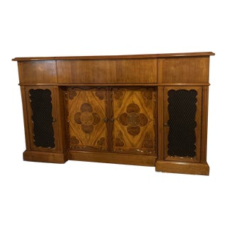 1940s Mid Century Bar and Buffet With Mosaic Inlays For Sale