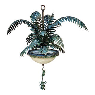 Late 20th Century Monumental French Palm Tree Chandelier For Sale