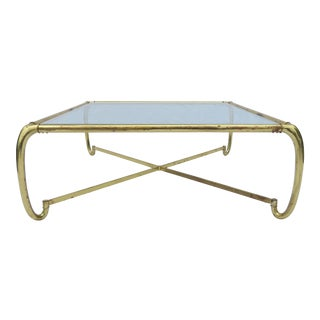 Mastercraft Sculptural Brass and Glass Coffee / Cocktail Table For Sale