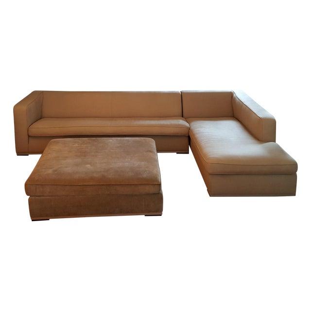 Antonio Citterio for B&b Italia Sectional Sofa & Large Ottoman For Sale - Image 13 of 13