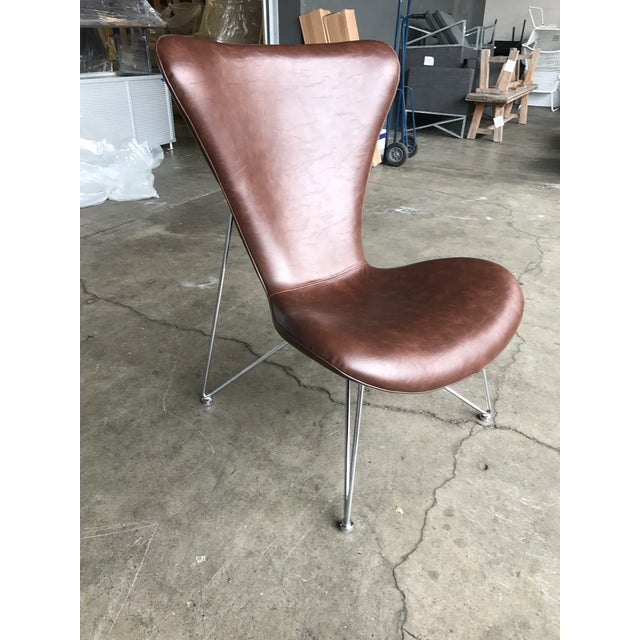 Distressed Brown Accent Chair - Image 2 of 5