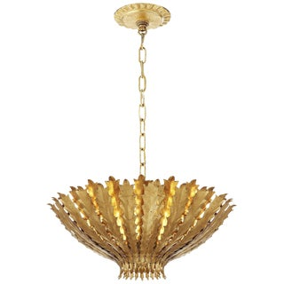 "Aerin for Visual Comfort Gold ""Hampton"" Medium Chandelier"