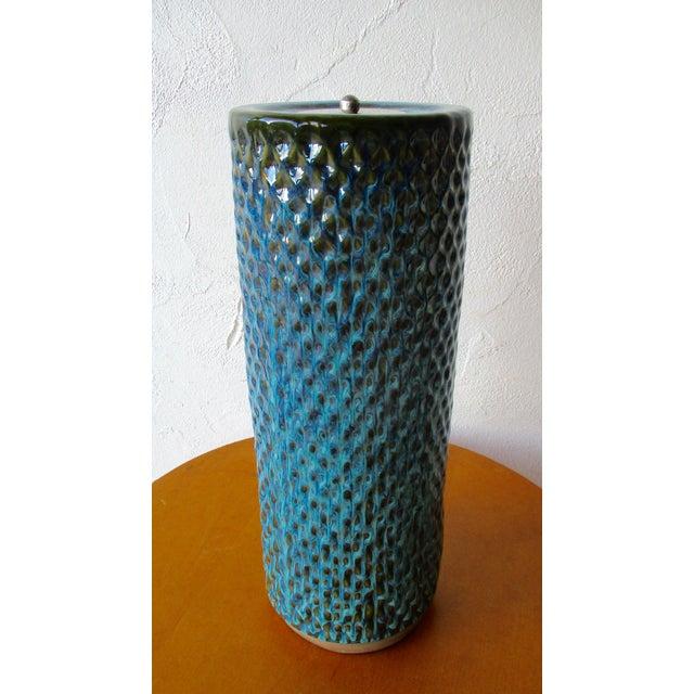 Bitossi Raymor Tall Ashtray Pottery Pot Vase   Chairish