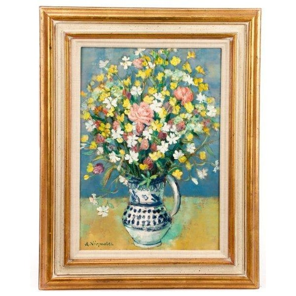 """""""Bouquet Aux Silenes Blancs"""" by Andre Vignoles - Image 1 of 10"""