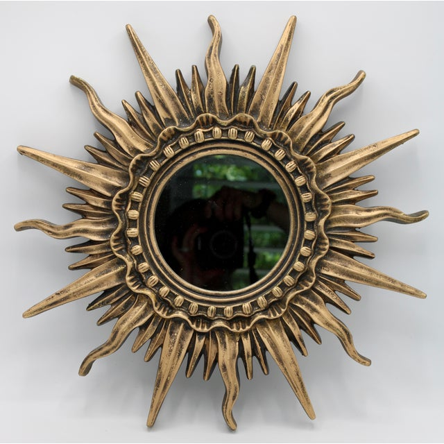 1930s Antique French Sunburst Mirror For Sale - Image 5 of 13