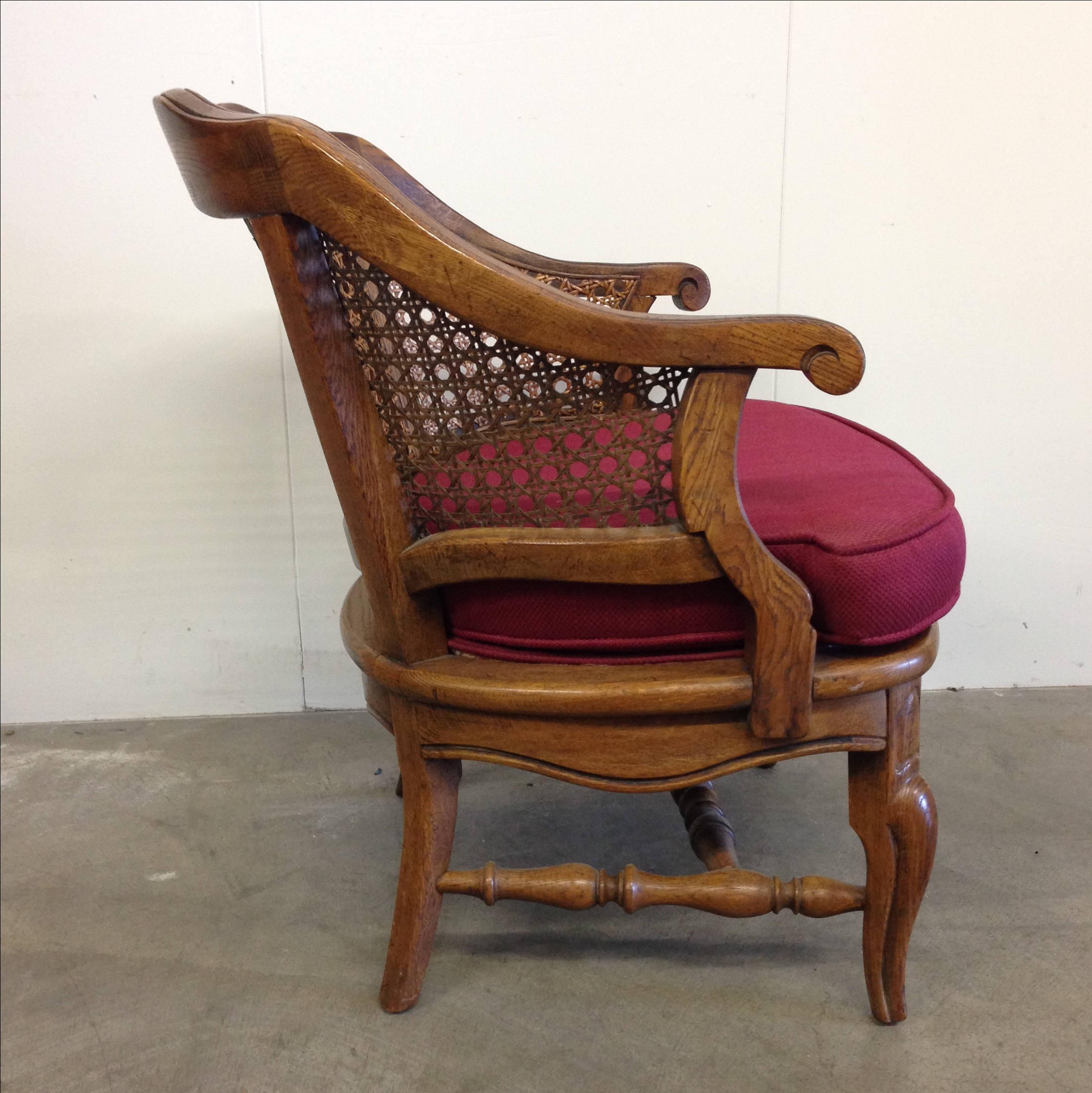 Genial French Provincial Cane Back Barrel Chair   Image 3 Of 10