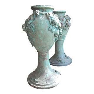 Art Nouveau Terrecotta Pots - a Pair