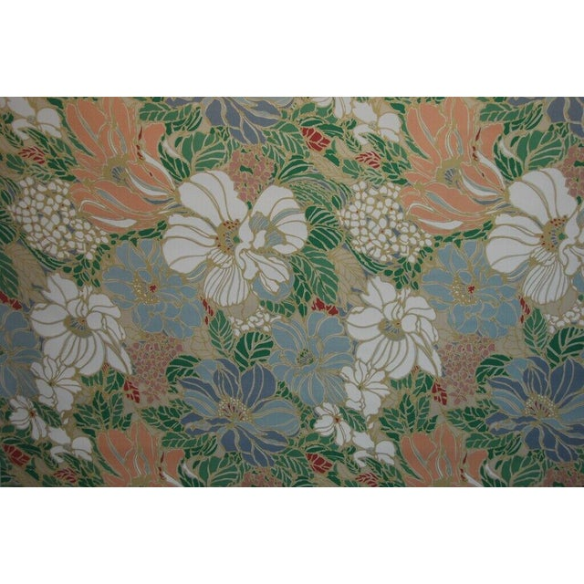 """4 Yards of Vintage Floral Sunbrella Indoor/Outdoor Upholstery Fabric. The fabric is marked """"5th Avenue Designs Covington..."""