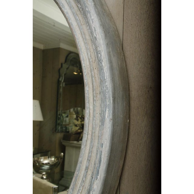 Late 19th Century Pair of 19th Century Round Swedish Mirrors For Sale - Image 5 of 6