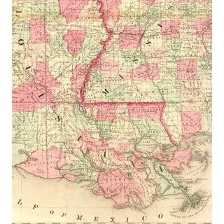 Vintage Map Louisiana, Arkansas & Mississippi,1863 Preview