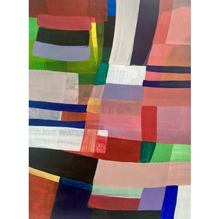 """""""Patchwork Quilt: Chiclet"""" Contemporary Abstract Acrylic Painting by Poppy Dodge For Sale"""