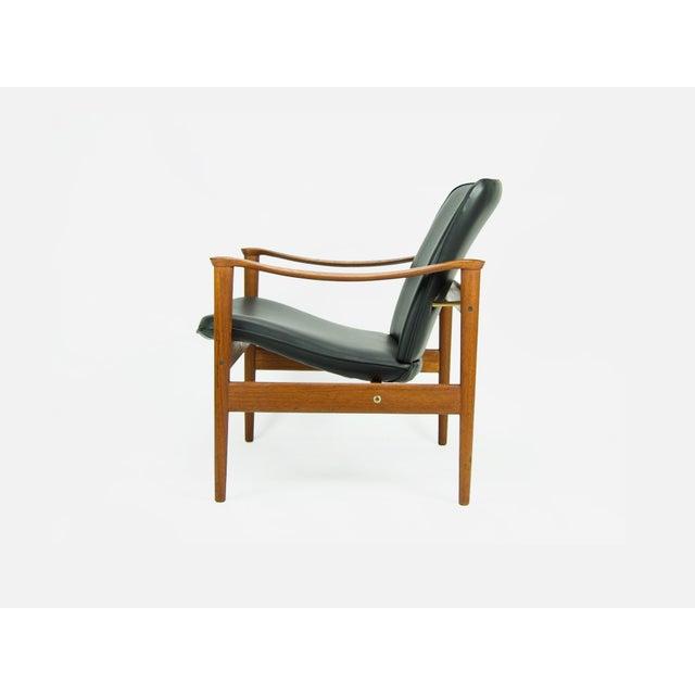 Fredrik A. Kayser 1950s Vintage Fredrik Kayser for Vatne Lenestolfabrik Model 711 Lounge Chair For Sale - Image 4 of 13