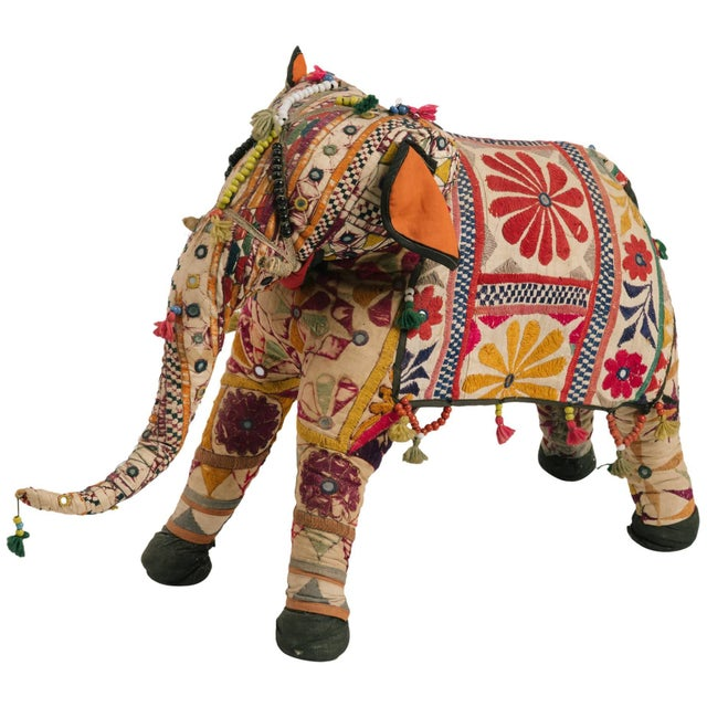 Blue 1970s Indian Elephant For Sale - Image 8 of 8