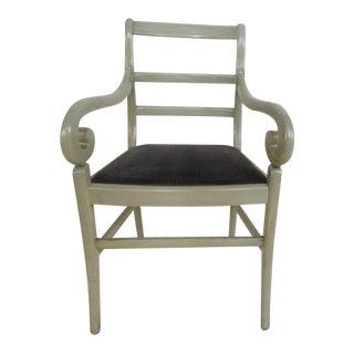 Directoire Gray Velvet Chair For Sale