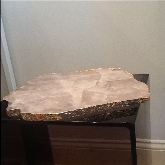 Boho Chic Rablabs Rose Quartz Serving Tray For Sale - Image 3 of 4