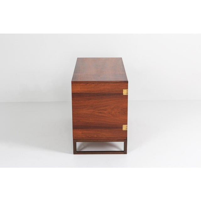 Mid-Century Modern Scandinavian Modern Svend Langkilde Cabinet in Rosewood and Brass - 1950 For Sale - Image 3 of 11