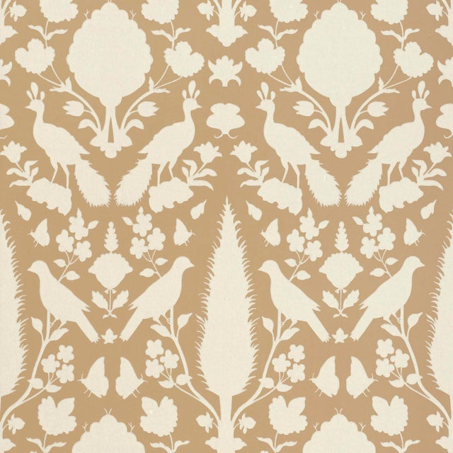 Contemporary Sample - Schumacher Chenonceau Wallpaper in Fawn For Sale - Image 3 of 3