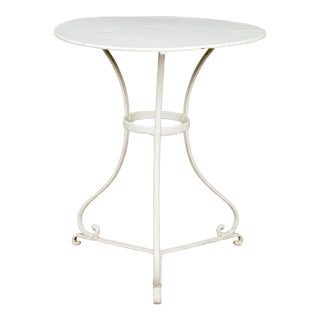 Early 20th Century French Wrought Iron Bistro Table For Sale